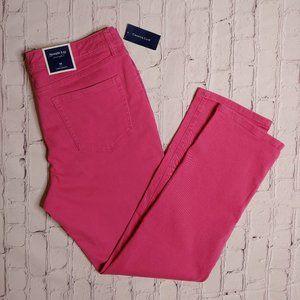 Charter Club Pink Lexington Straight Jeans 16 NWT